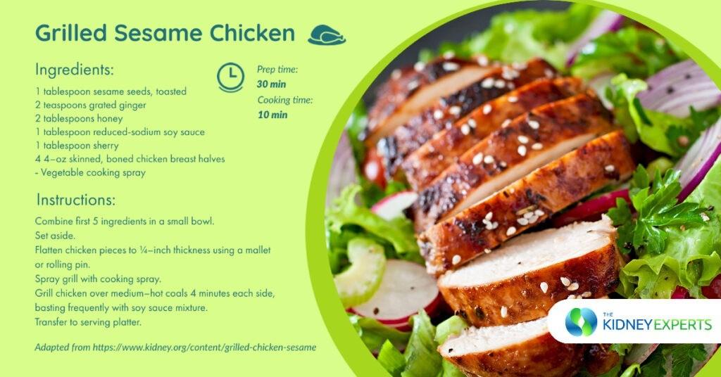 Grilled Sesame Chicken